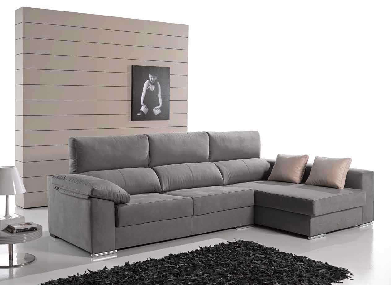 Sofa chaise longue aries crea espai for Sofa arcon terraza