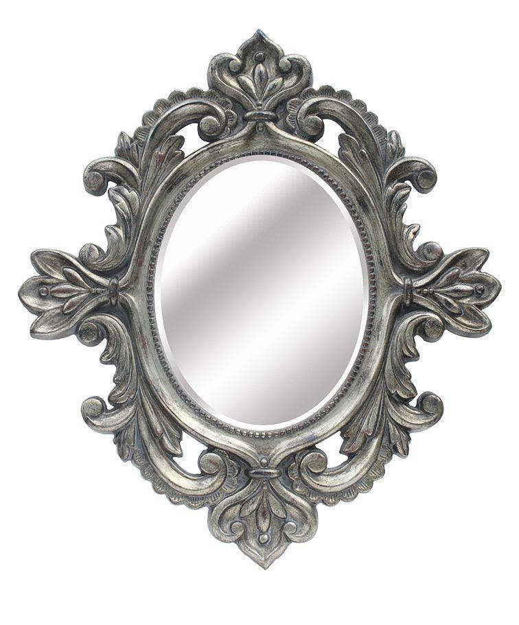 Espejo de resina dorado ovalado lleno de molduras for Espejo ovalado dorado
