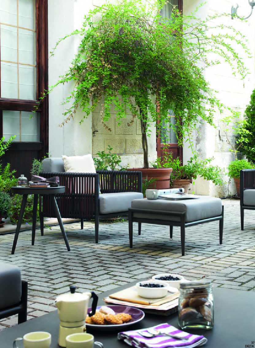 Sillon de jardin delta gabar crea espai for Muebles para patios exteriores
