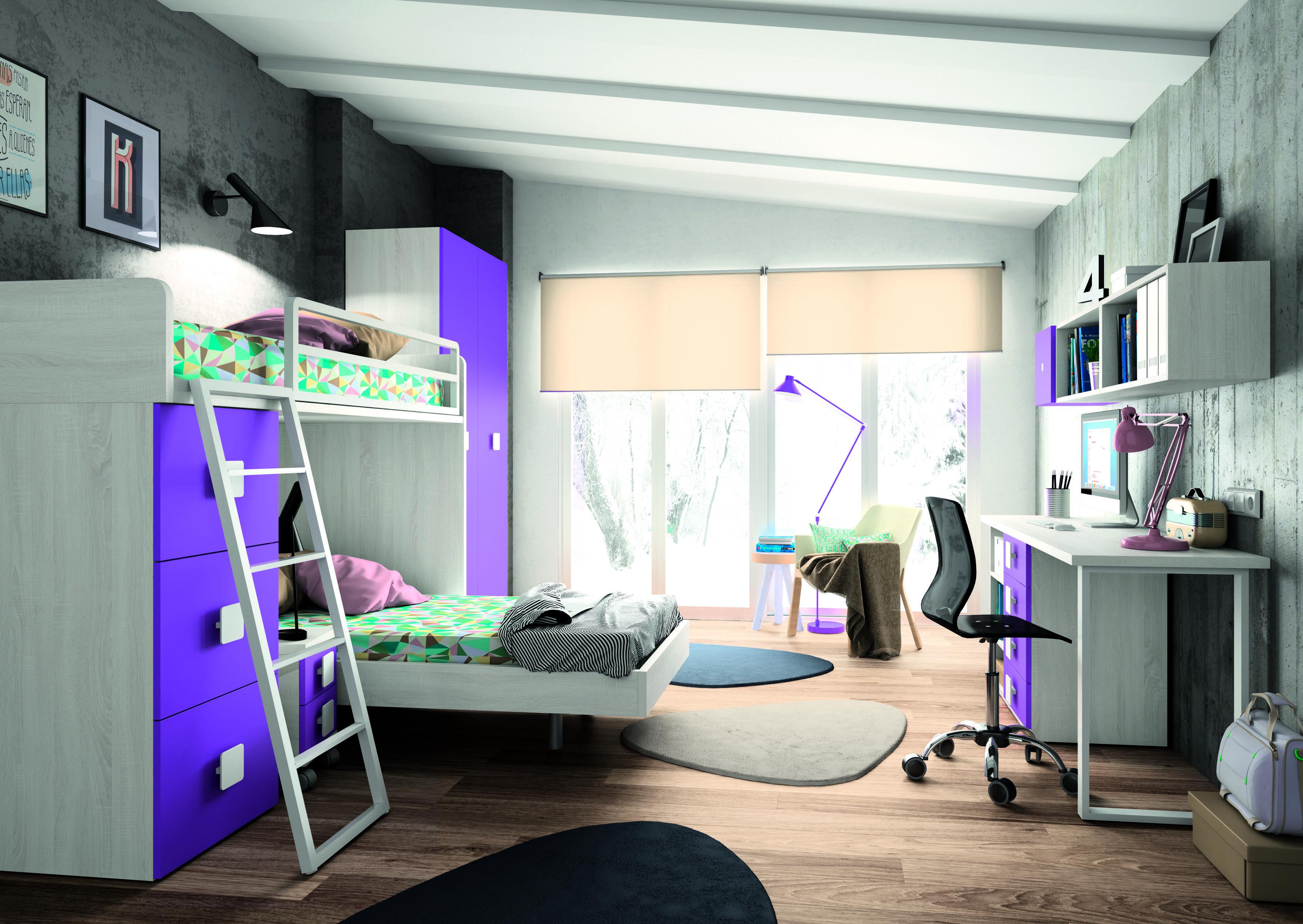 Literas de tres camas - Camas para espacios pequenos ...